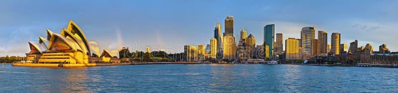Cirkel de kade buitengewoon breed panorama van Sydney stock afbeelding