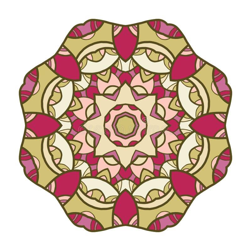Cirkel decoratief ornament, mandala, Arabisch patroon stock illustratie