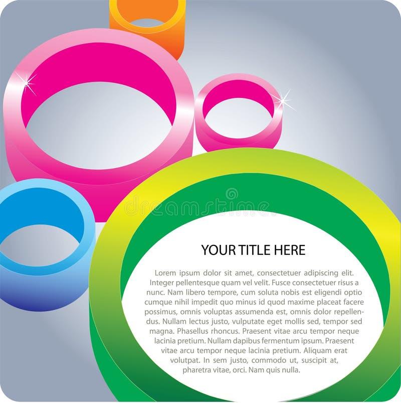 cirkel för bakgrund 3d royaltyfri illustrationer