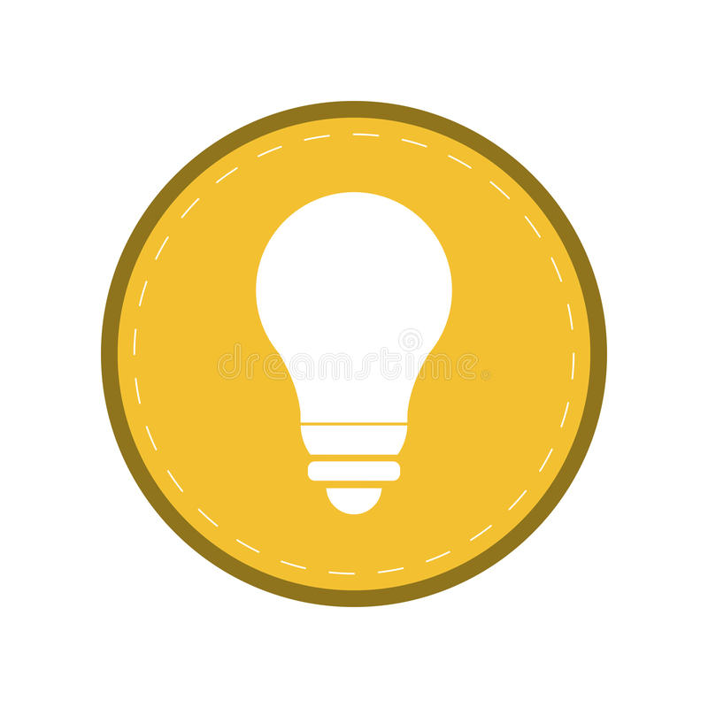 Cirkel för guling för symbol för elektricitet för ljus energi för kula royaltyfri illustrationer