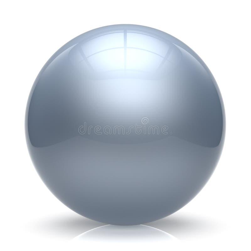Cirkel för vit för ballong för sfärboll geometrisk grundläggande runda för knapp stock illustrationer