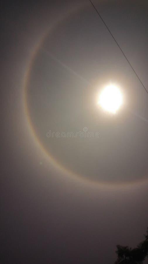 Cirkel formad regnbåge royaltyfri fotografi