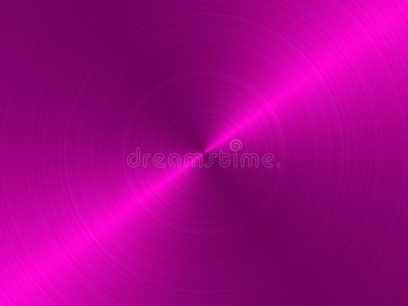 Cirkel geborsteld metaal - roze vector illustratie