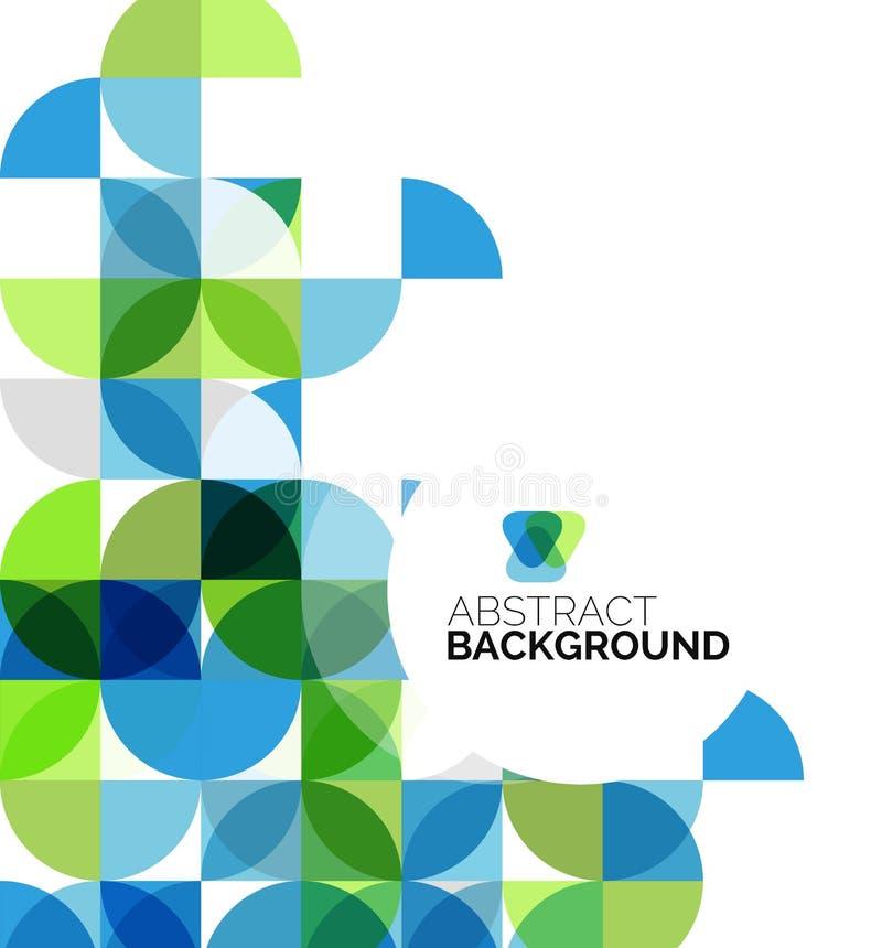 Cirkel geometrische abstracte achtergrond vector illustratie