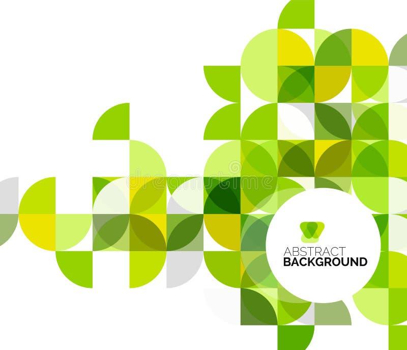 Cirkel geometrische abstracte achtergrond stock illustratie