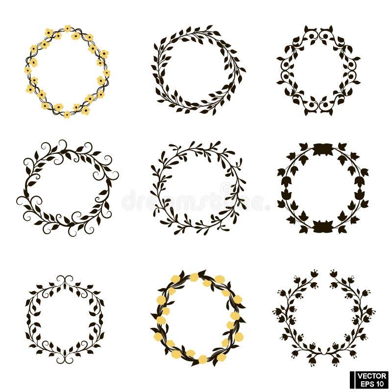 Cirkel geplaatste installatiekaders royalty-vrije illustratie