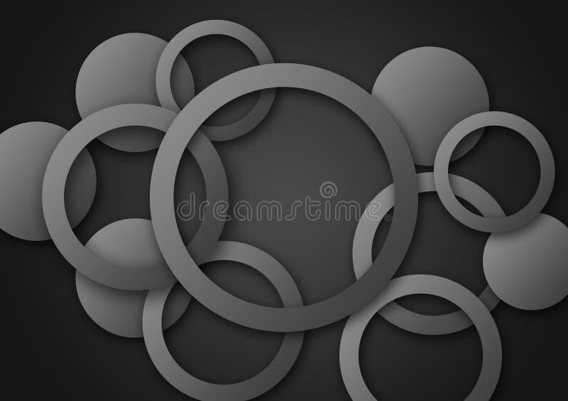Cirkel grijs achtergrond geweven behangontwerp vector illustratie