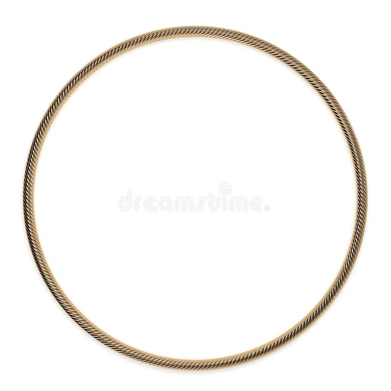 Cirkel het gouden kabel 3d teruggeven stock illustratie