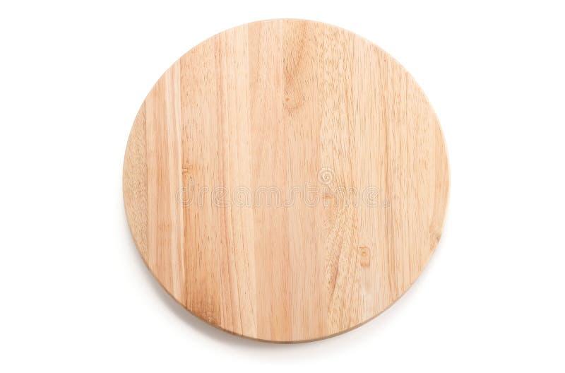 cirkel houten dienblad stock fotografie