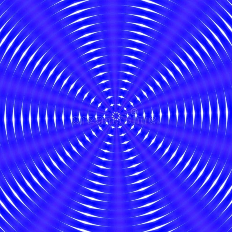 Cirkel hypnotic abstracte achtergrond in blauwe tinten vector illustratie