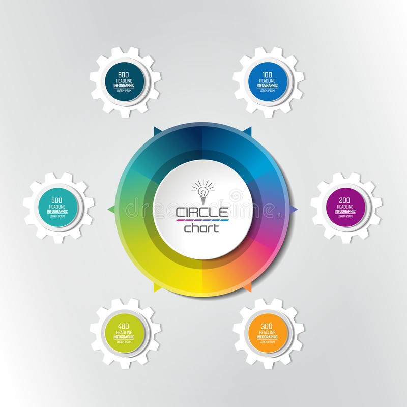 Cirkel infographic grafiek, diagram, regeling stock illustratie