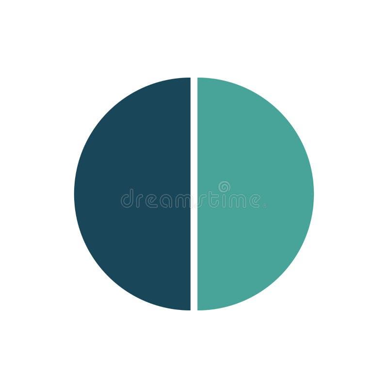 Cirkel infographic malplaatje Vectorlay-out met 2 opties Kan voor cyclusdiagram, ronde grafiek, grafiek, jaarverslag worden gebru vector illustratie