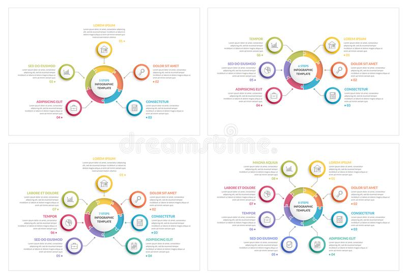 Cirkel Infographics royalty-vrije illustratie