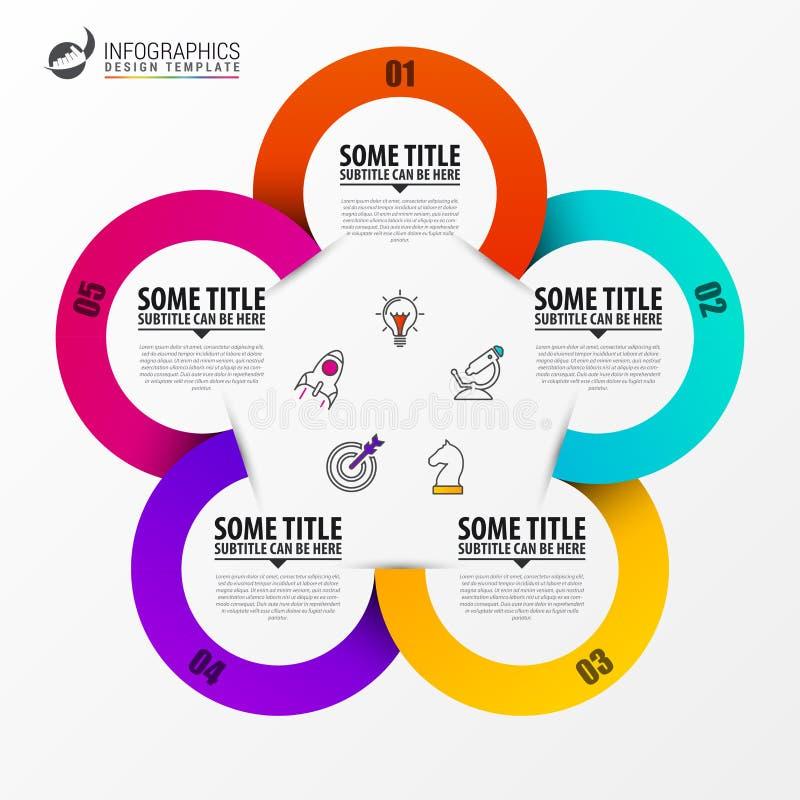 Cirkel Infographics Malplaatje voor diagram Vector illustratie stock illustratie
