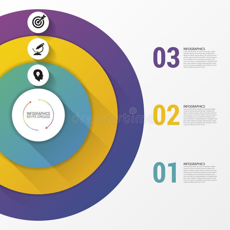 Cirkel Infographics Malplaatje voor diagram Vector illustratie royalty-vrije illustratie