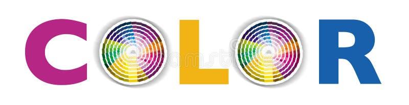 Cirkel kleur of kleurenmonster royalty-vrije illustratie