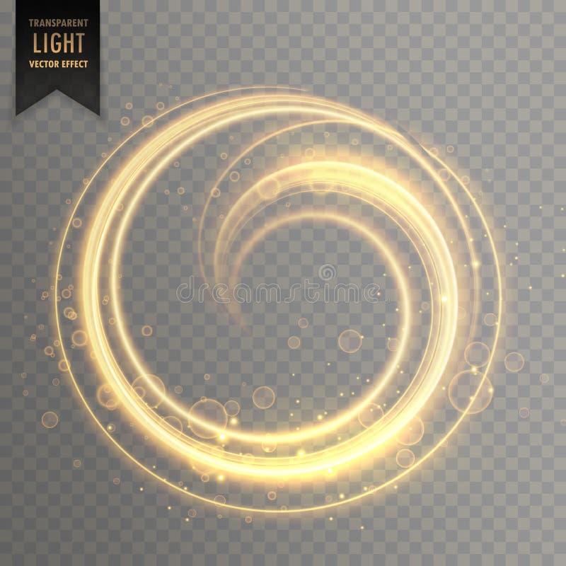 Cirkel lichte strook in gouden kleur royalty-vrije illustratie