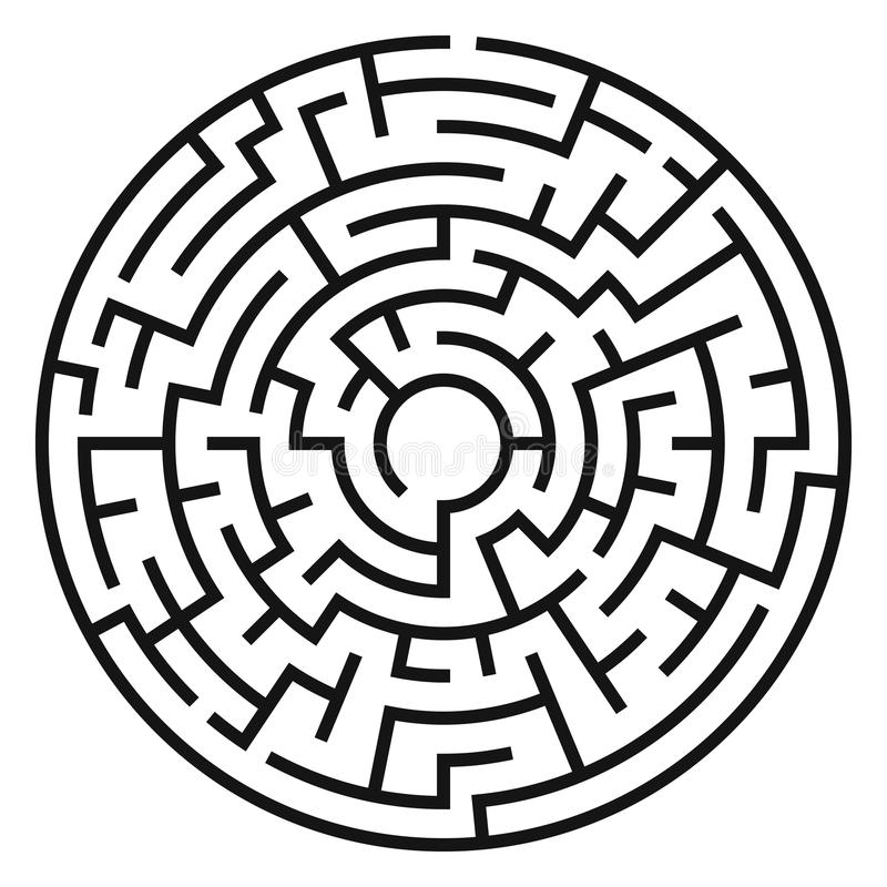 Cirkel Maze Vector royalty-vrije illustratie