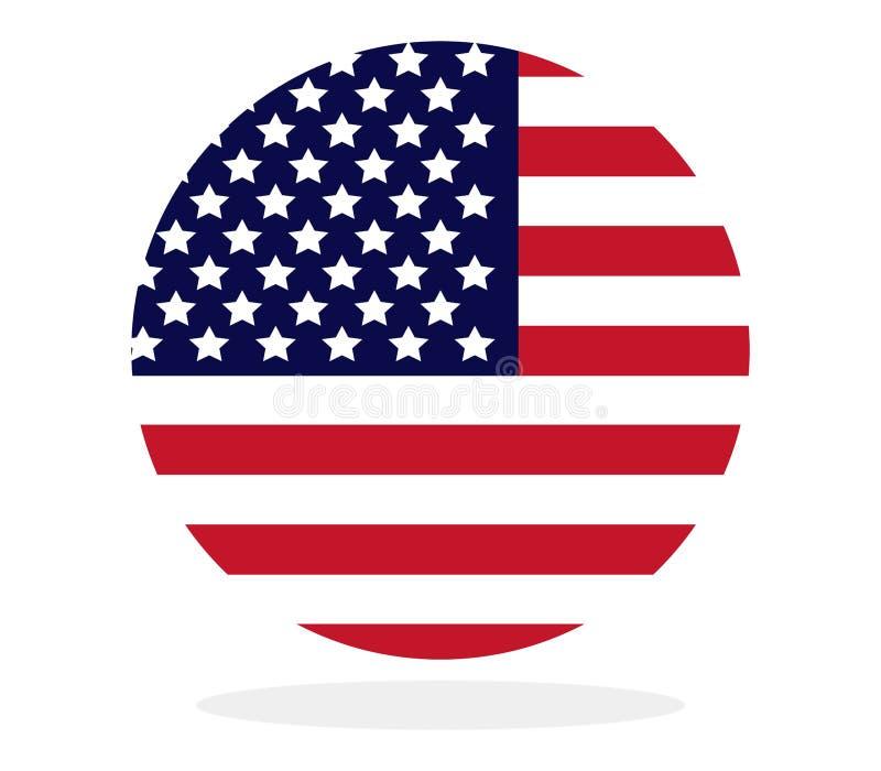 Cirkel met de vlag van de V.S. vector illustratie