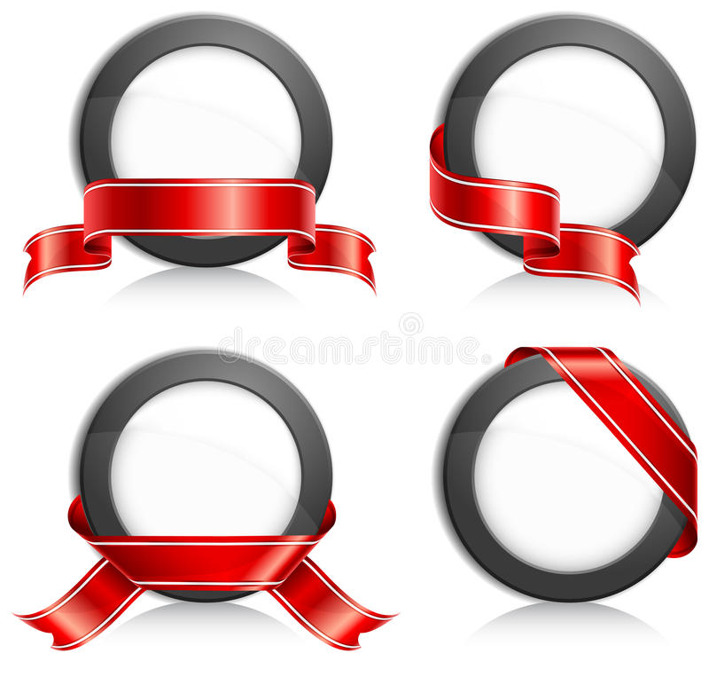 Cirkel met lint royalty-vrije stock afbeelding