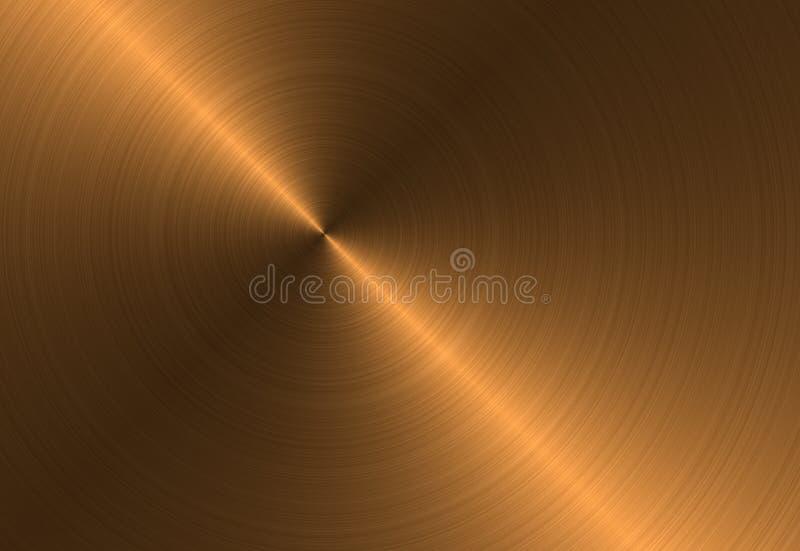 Cirkel metaal geborstelde textuur stock illustratie
