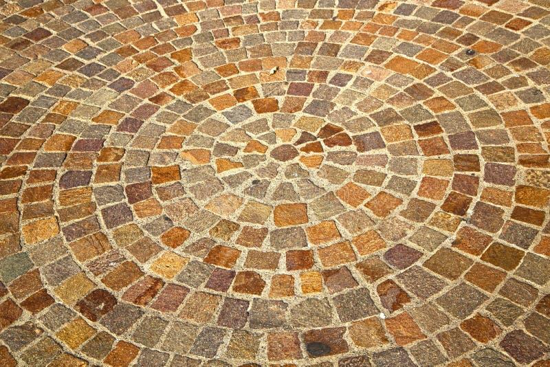 Cirkel in mozzatestraat Lombardije Italië stock afbeeldingen