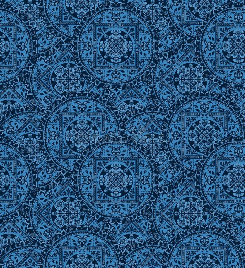 Cirkel naadloos patroon van traditionele motieven vector illustratie