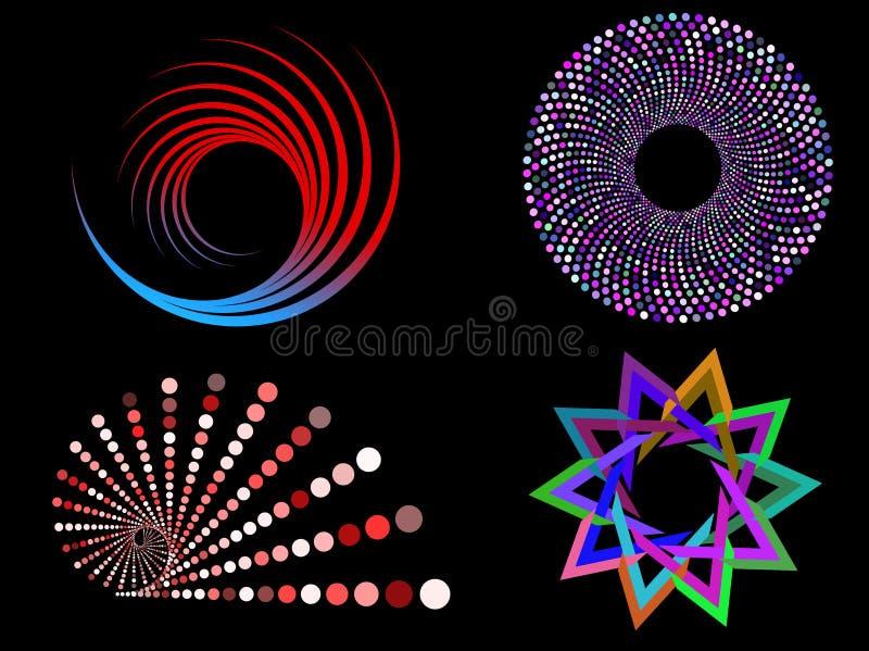 Cirkel ontwerpen vector illustratie