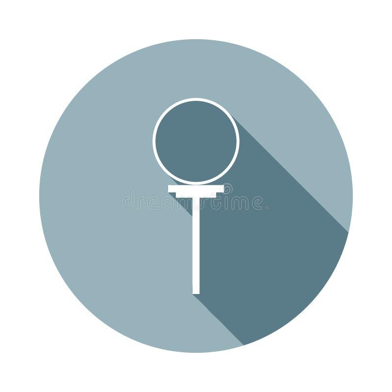 cirkel på circusicon i plan lång skugga En av rengöringsduksamlingssymbolen kan användas för UI/UX stock illustrationer