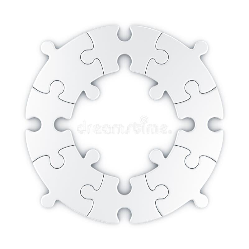Cirkel raadsel vector illustratie