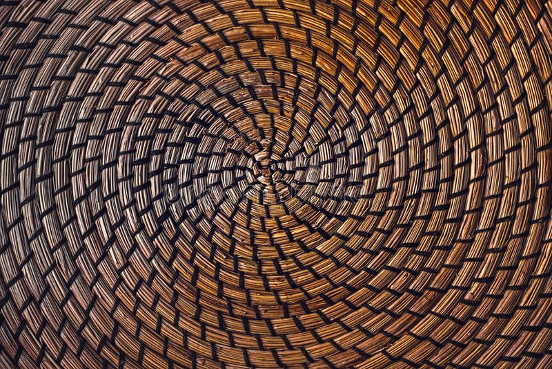 Cirkel rieten stro royalty-vrije stock foto's