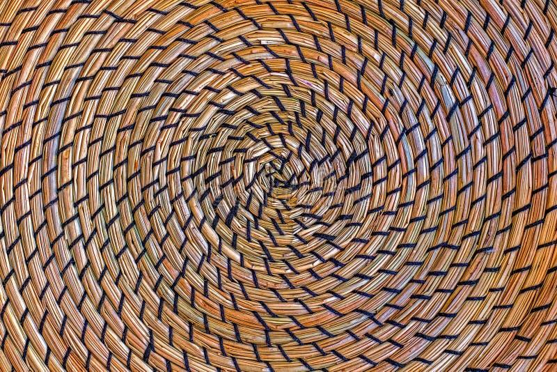 Cirkel rieten stro royalty-vrije stock foto