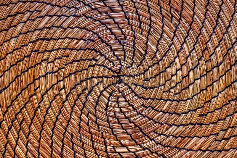 Cirkel rieten stro stock afbeelding