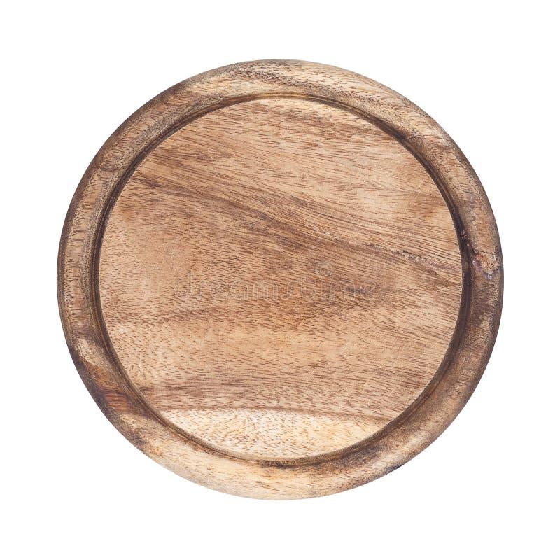 Cirkel scherpe die raad op wit wordt geïsoleerd stock fotografie
