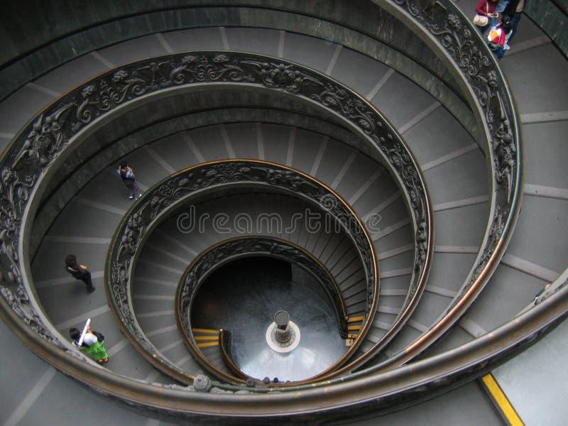 Cirkel Trap in het Vatikaan - Rome, Italië royalty-vrije stock afbeeldingen