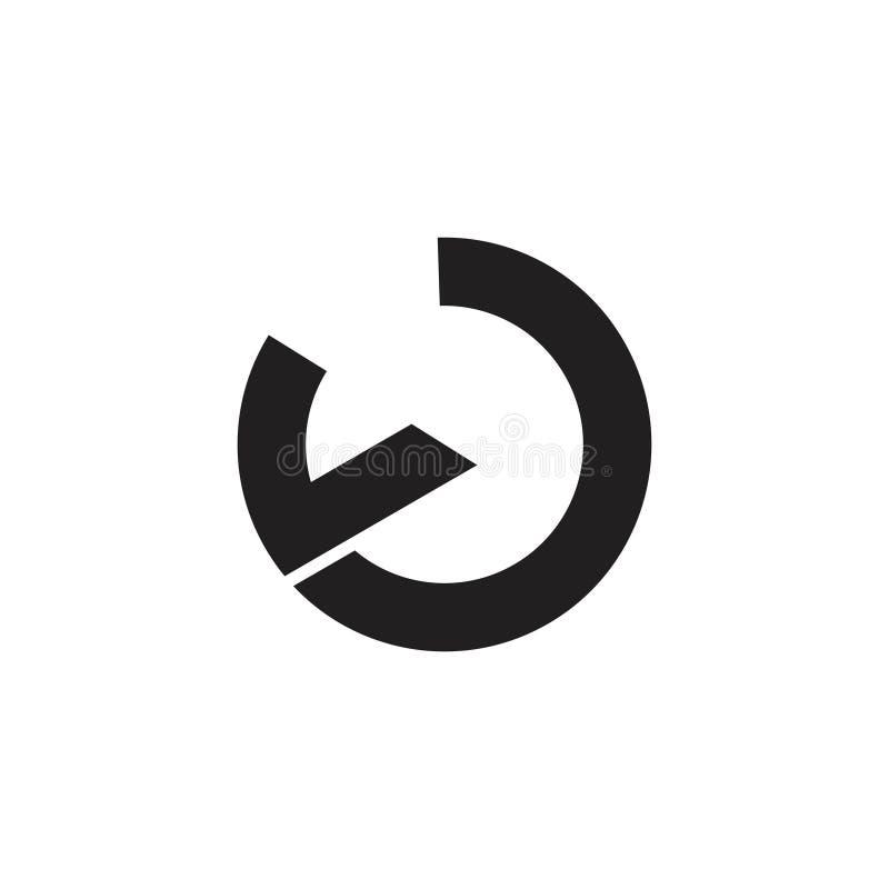 Cirkel v de eenvoudige geometrische vector van het lijnembleem royalty-vrije illustratie