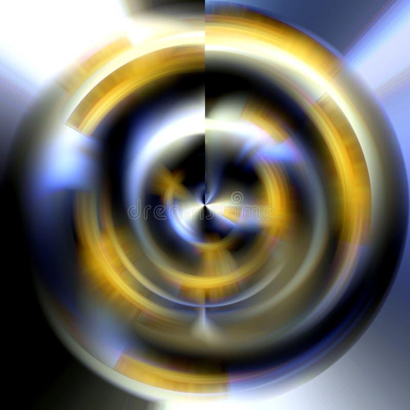 Cirkel in vage tinten, abstract beeld stock illustratie