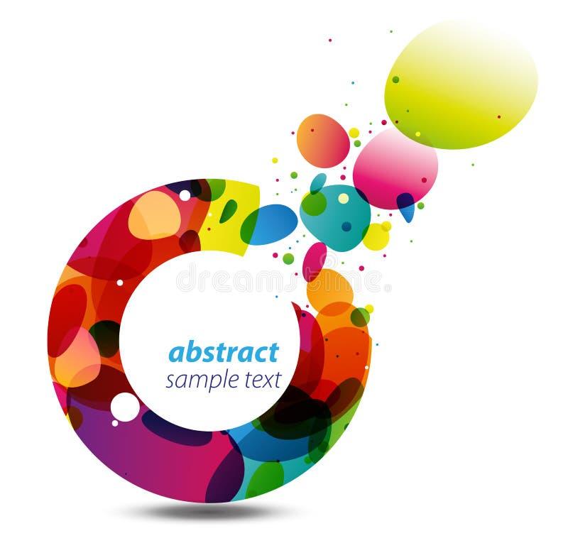 Download Cirkel Van De Achtergrond Van Kleuren Vector Illustratie - Illustratie bestaande uit banner, vier: 18990681