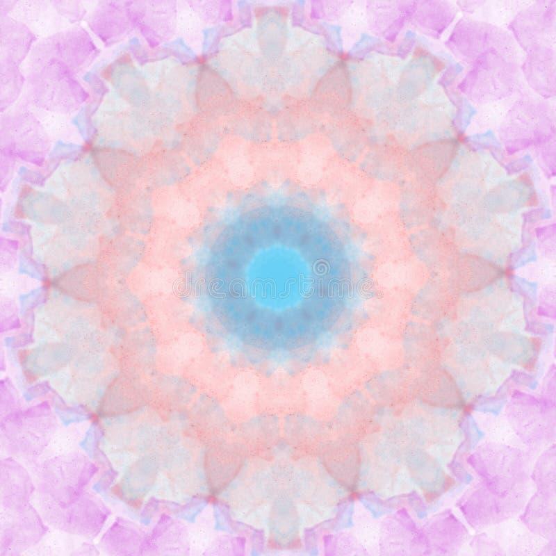 Cirkel van het de stijl de geometrische patroon van pastelkleurmandala om ontwerpelement stock illustratie