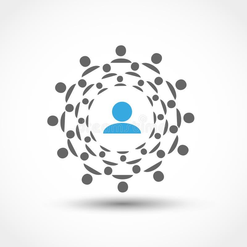 Cirkel van het mensen de sociale voorzien van een netwerk stock illustratie
