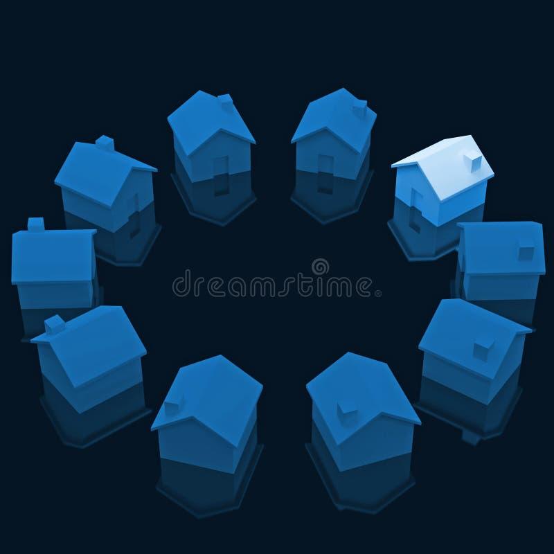Cirkel van huis royalty-vrije illustratie