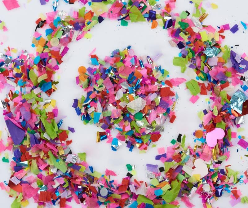 Cirkel van kleurrijke confettien royalty-vrije stock foto