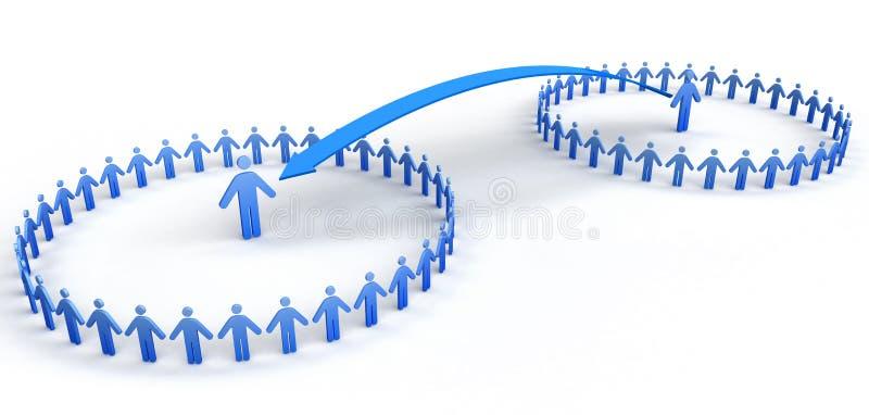 Cirkel van Mensen stock afbeelding