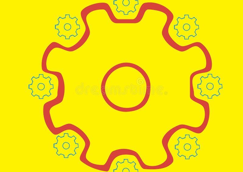 Cirkel van pignons royalty-vrije illustratie