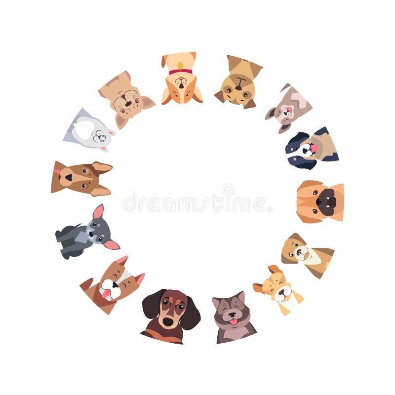 Cirkel van Verschillende Rashonden Vector vector illustratie
