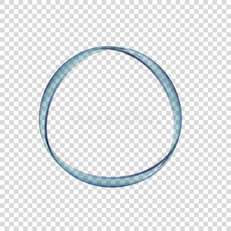 Cirkel van water op een transparante achtergrond stock illustratie
