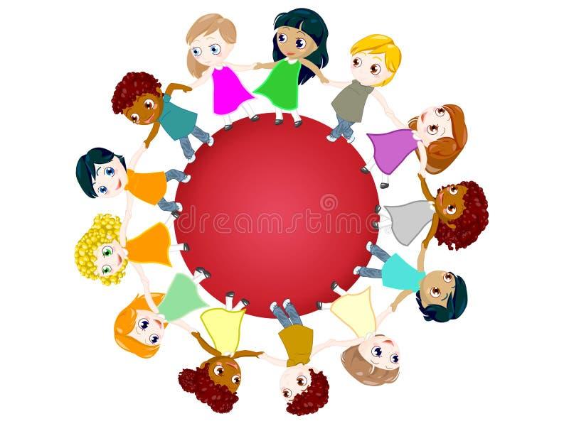 Cirkel voor vrede royalty-vrije illustratie