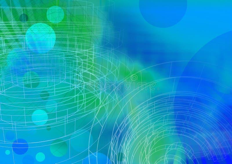 Cirkel wireframe 3 - een reeks royalty-vrije illustratie
