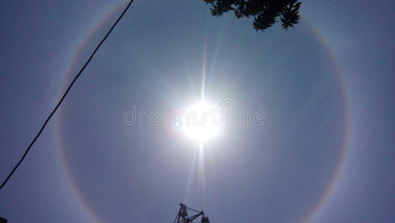 Cirkel in zon stock foto's