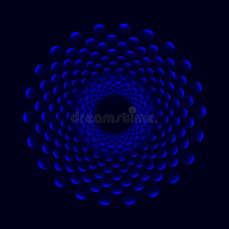 Cirkelabstractie Bloemen achtergrond Vector ontwerp vector illustratie